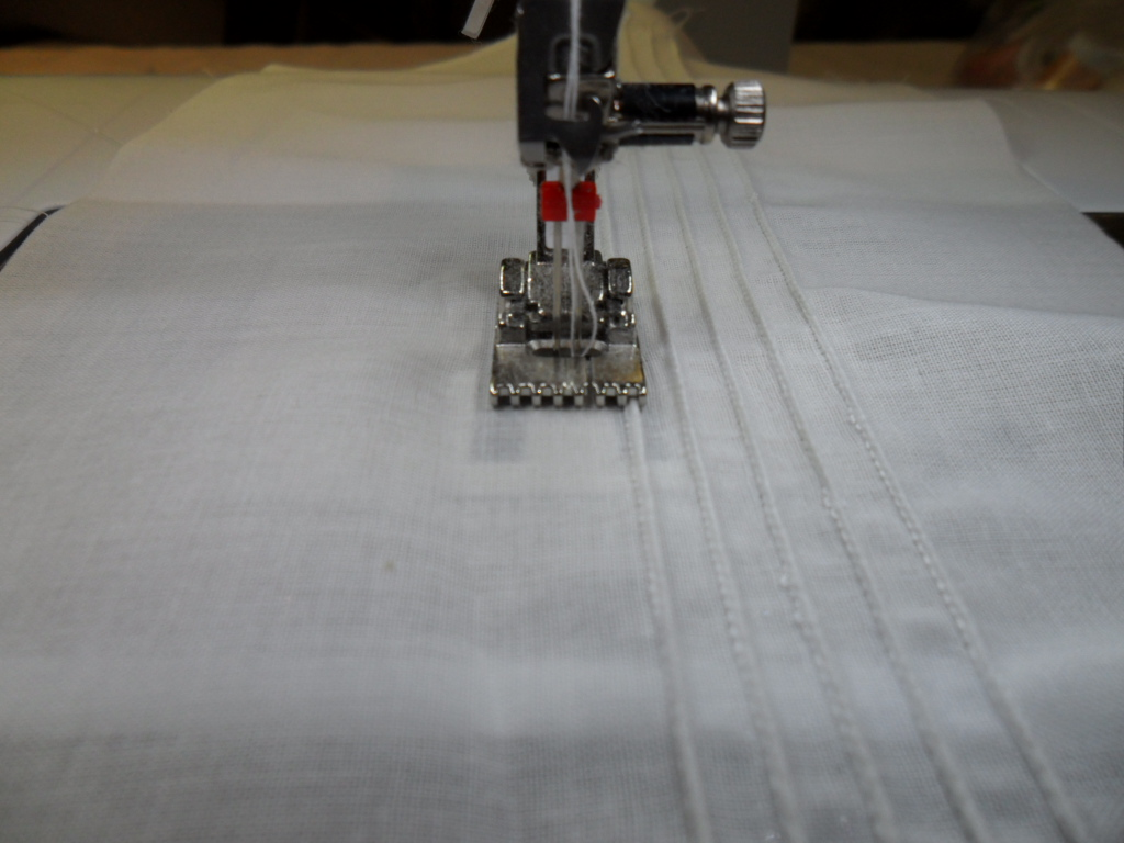 stitching pintucks