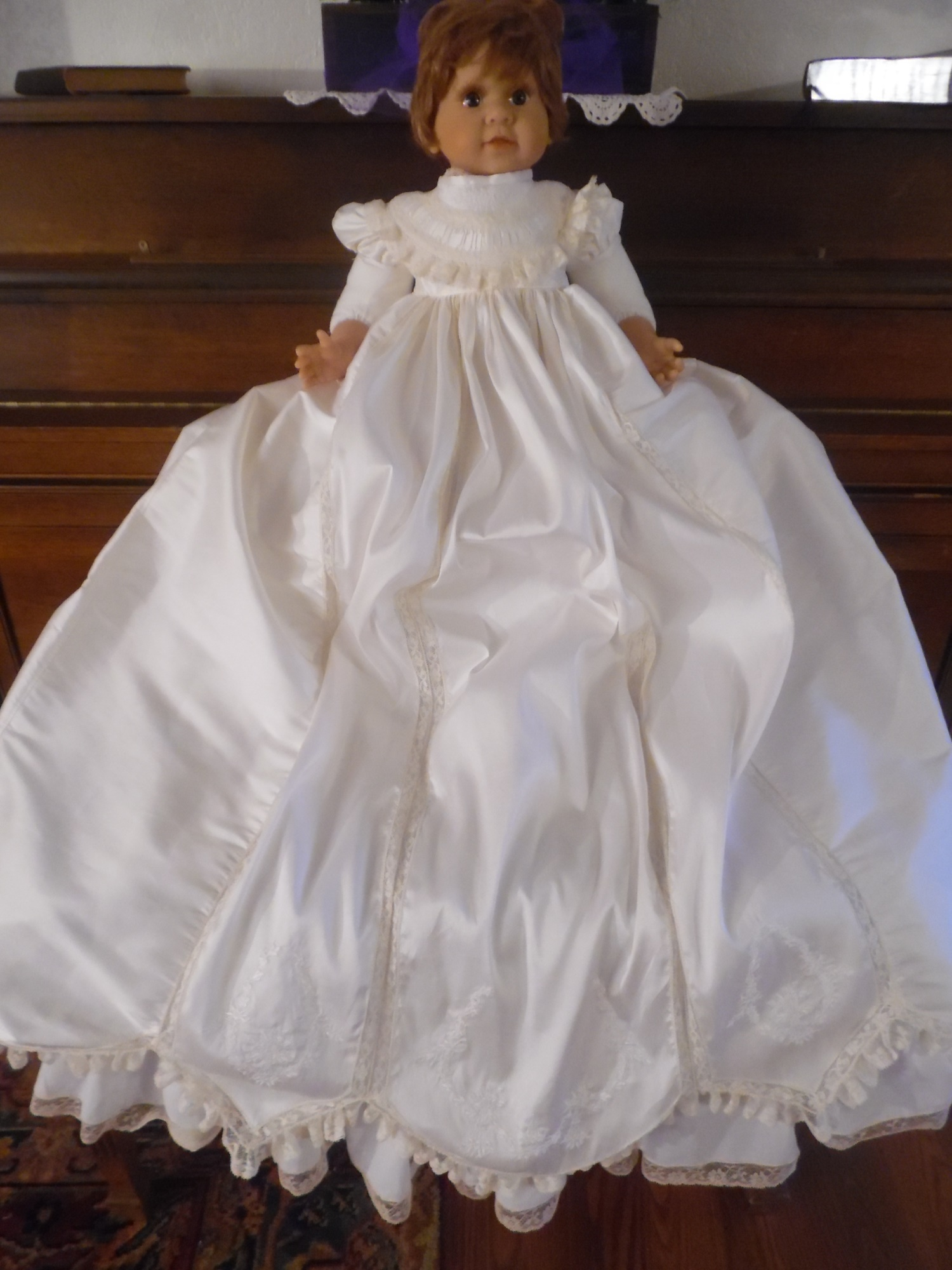 Silk Christening Gown and Slip - Old2New Heirlooms